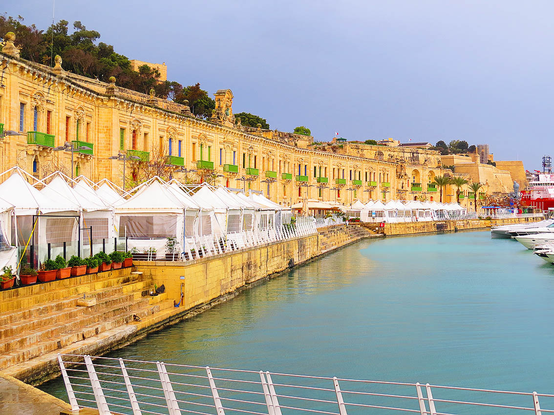 Day View Of Valletta Waterfront