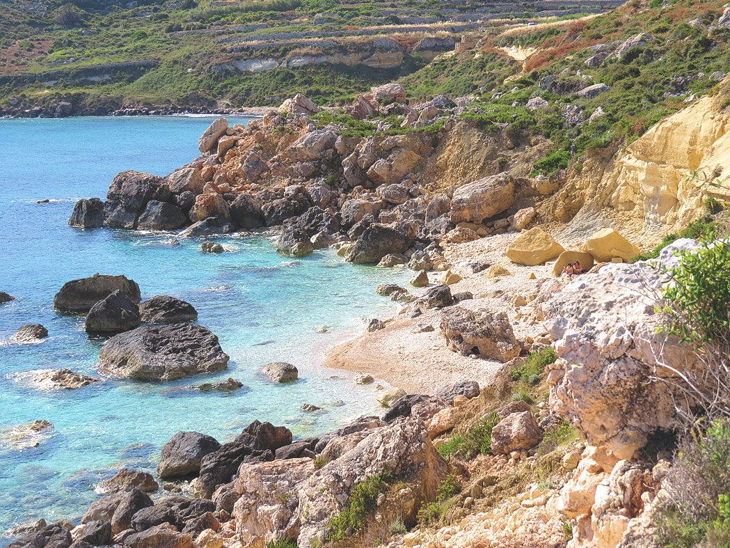 The coves off the main beach are even better