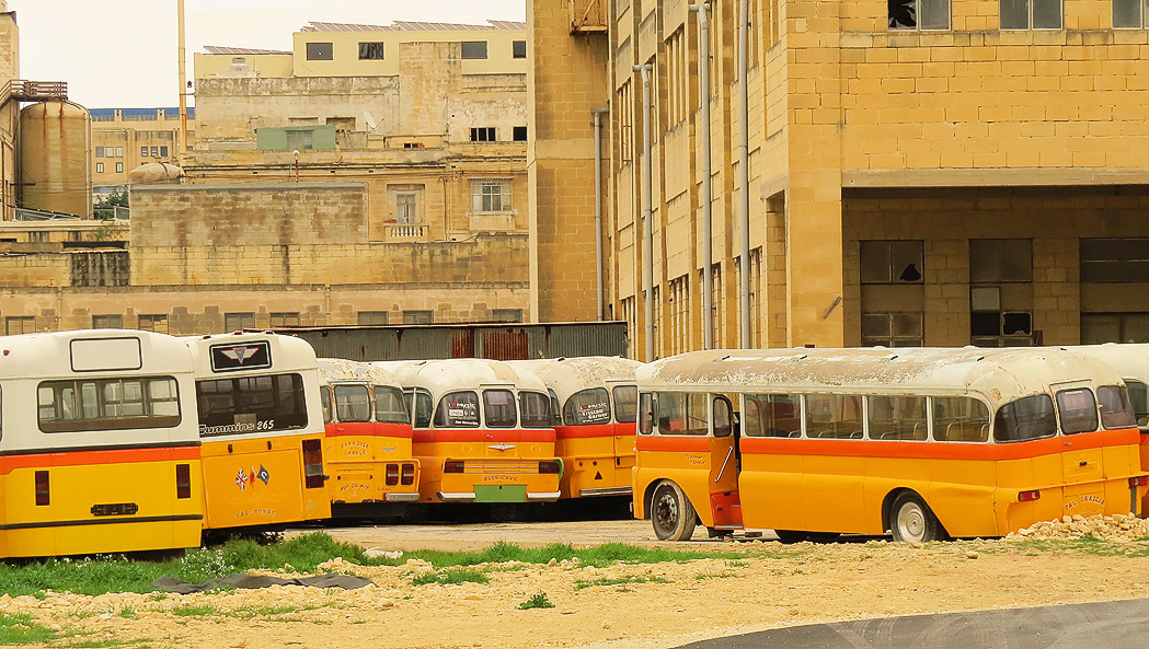Decommissioned Buses at Marsa Docklands`