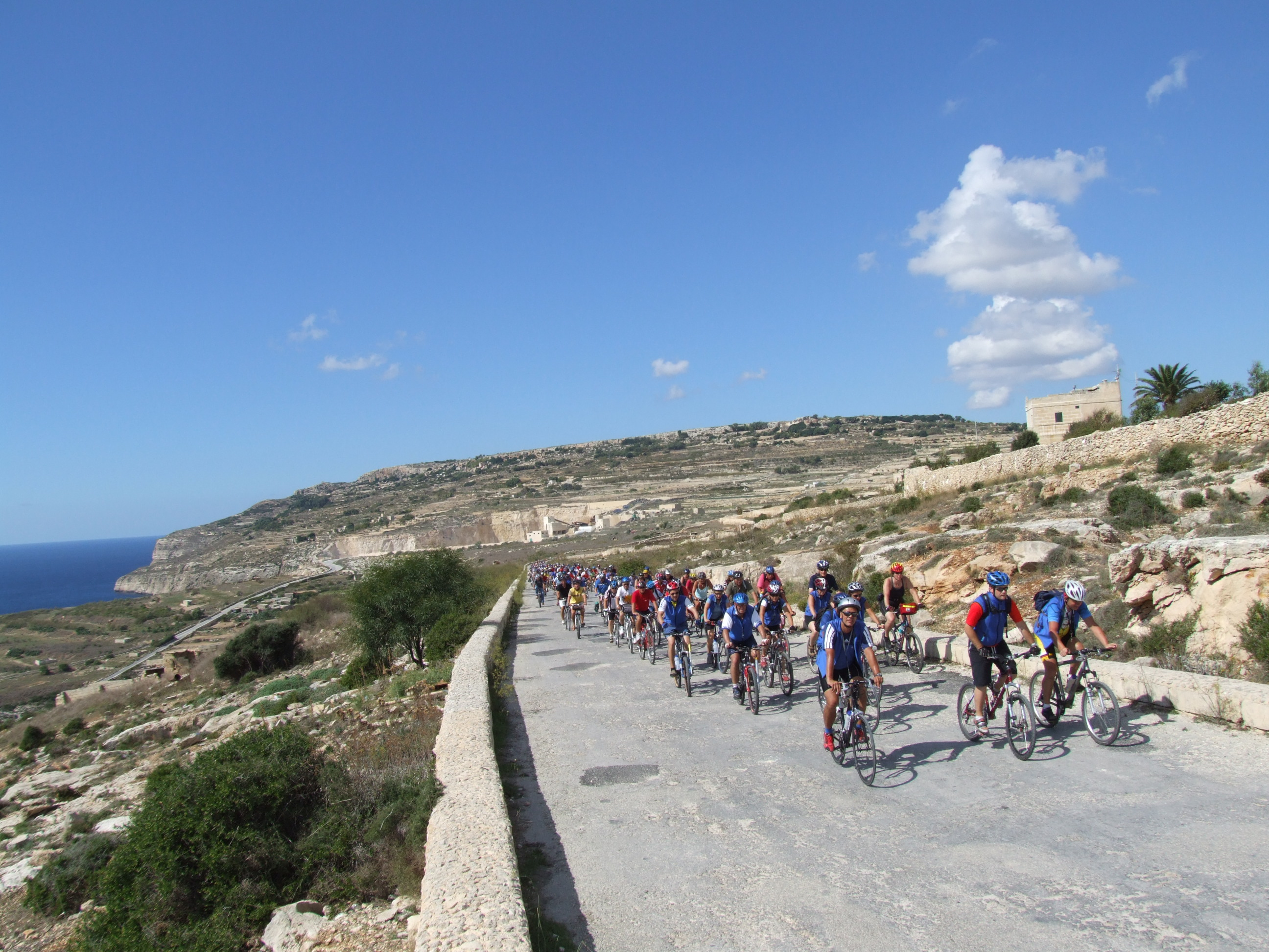 Cycle Riders In Malta