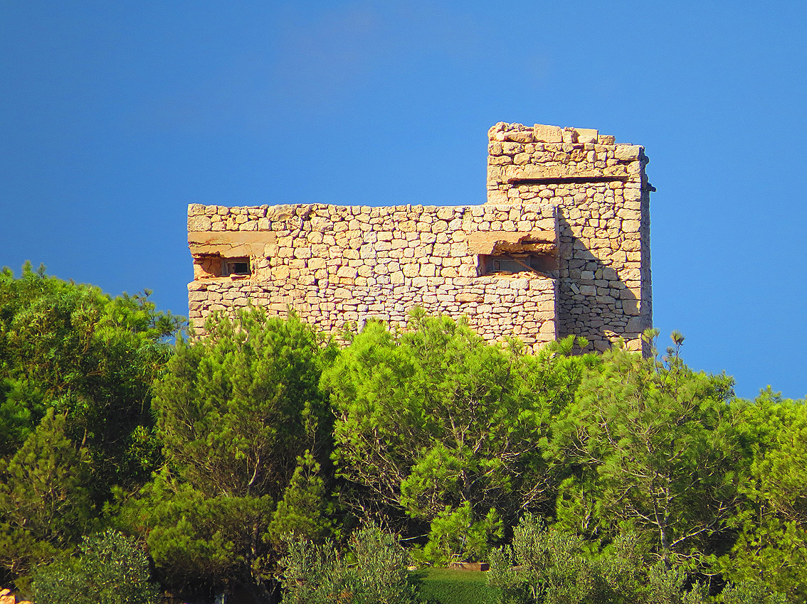 View Of Stone-Clad Pillbox