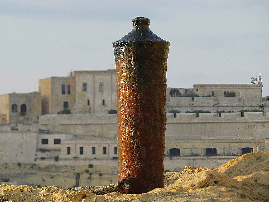 Ancient Cannon used as bollards