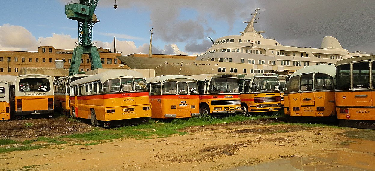 A Graveyard for the Malta Buses