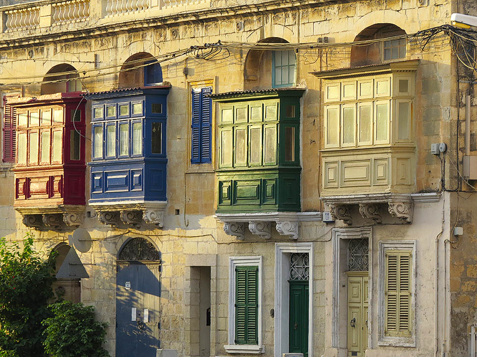 Balconies - A row of balconies in Balzan