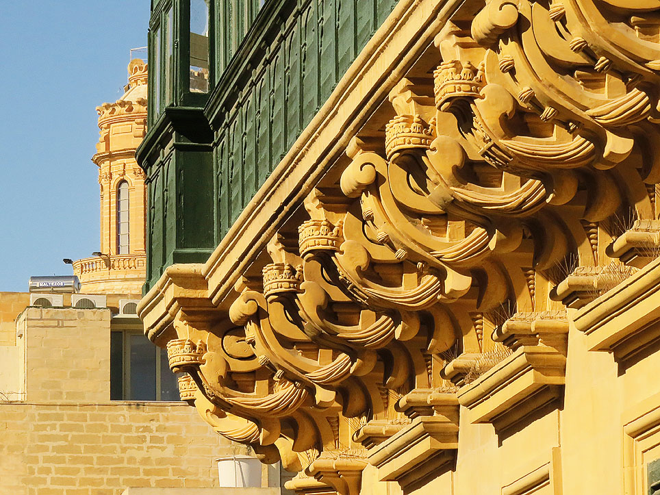Balconies - The balcony at the Magisterial Palace Valletta
