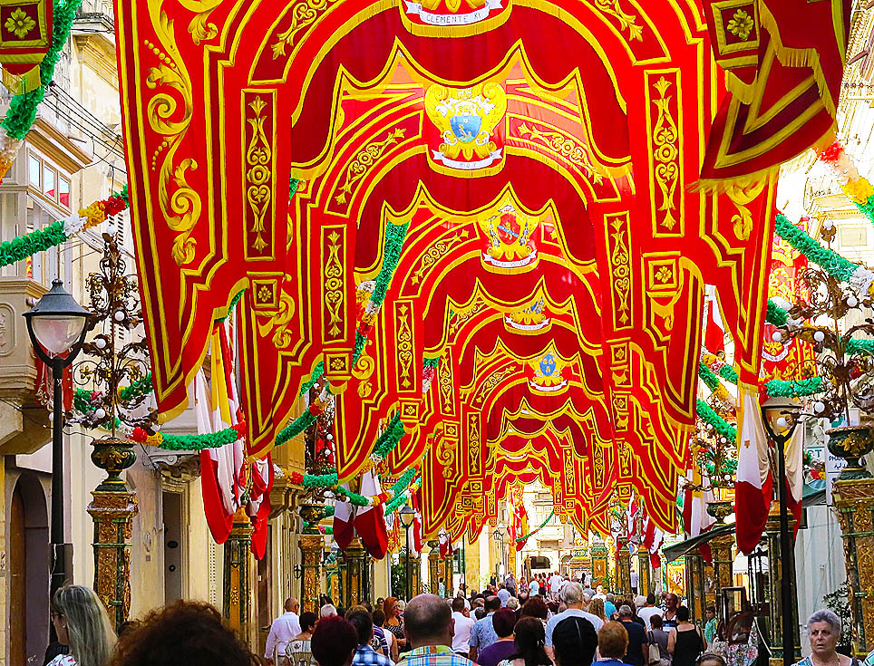 Bkara - Main Street decorated for the feast