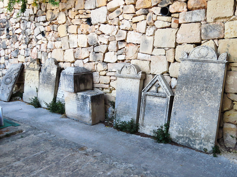 Old Headstones at Birgu Cemetery
