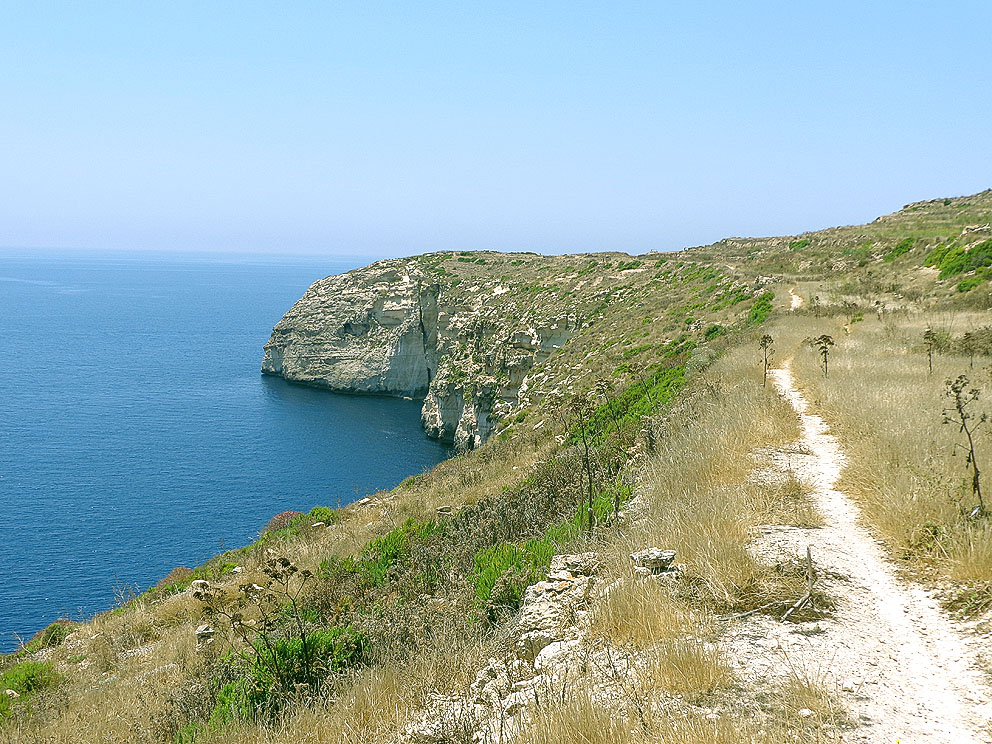 Remote Cycling Path Gozo