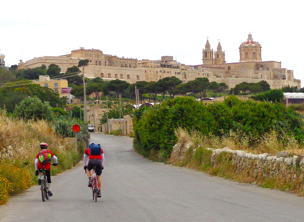 Cycling near Mdina