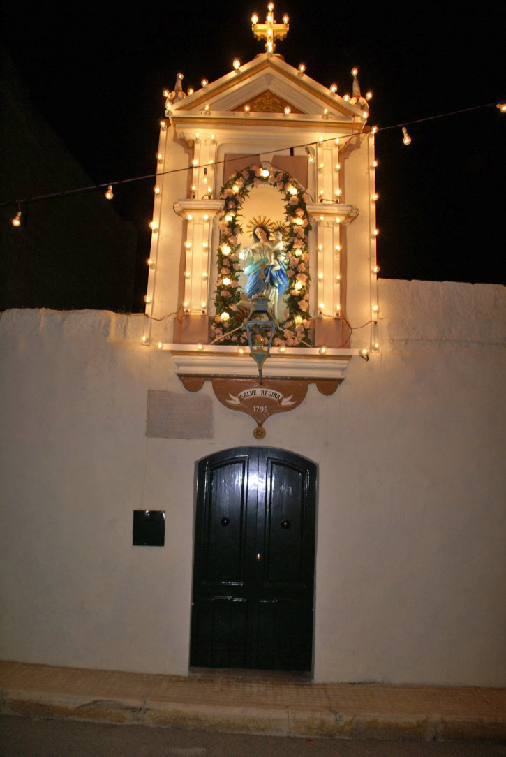 lit up Doorway in Zebbug Gozo.