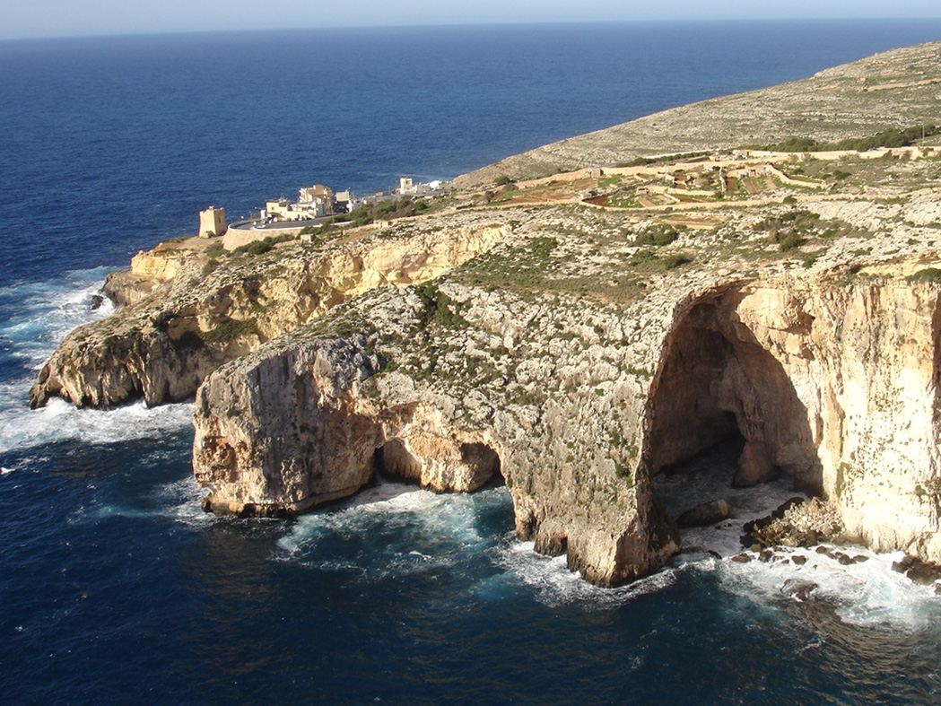 A different view of Blue Grotto