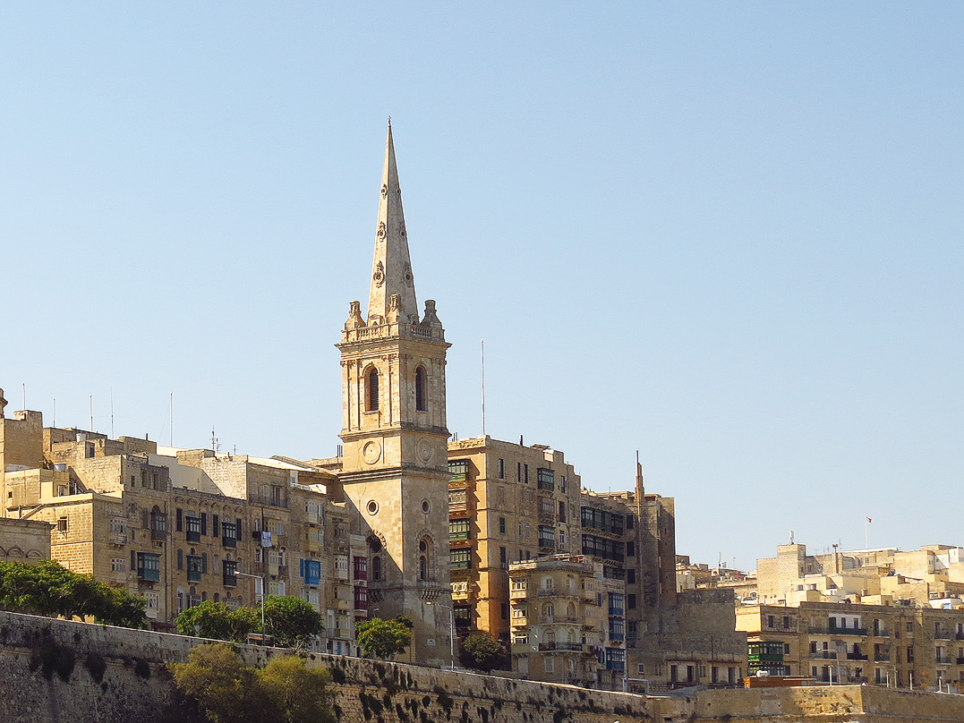 Spire of the Anglican Cathedral in Valletta
