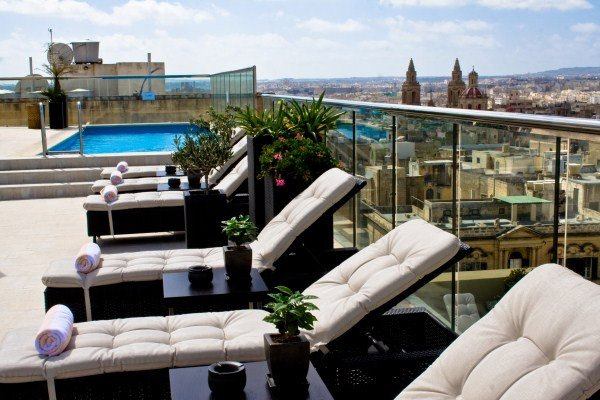 Victoria Hotel Roof Pool and Terrace