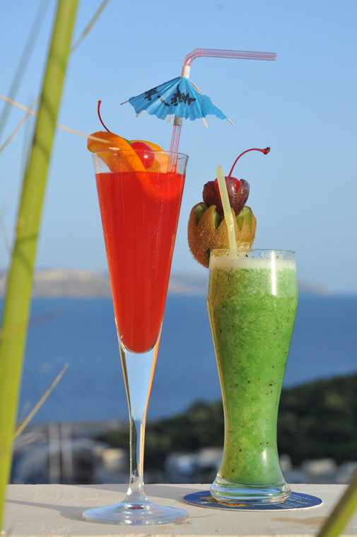 Cocktails at the Seabank Resort, Malta