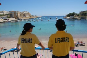 Lifeguards at St Georges Bay