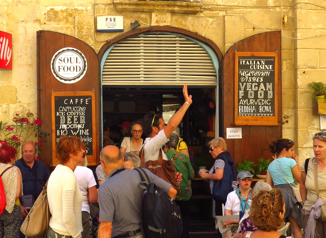 Eating in Valletta, Malta