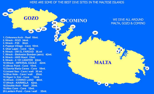 Best Dive Sites in Malta & Gozo