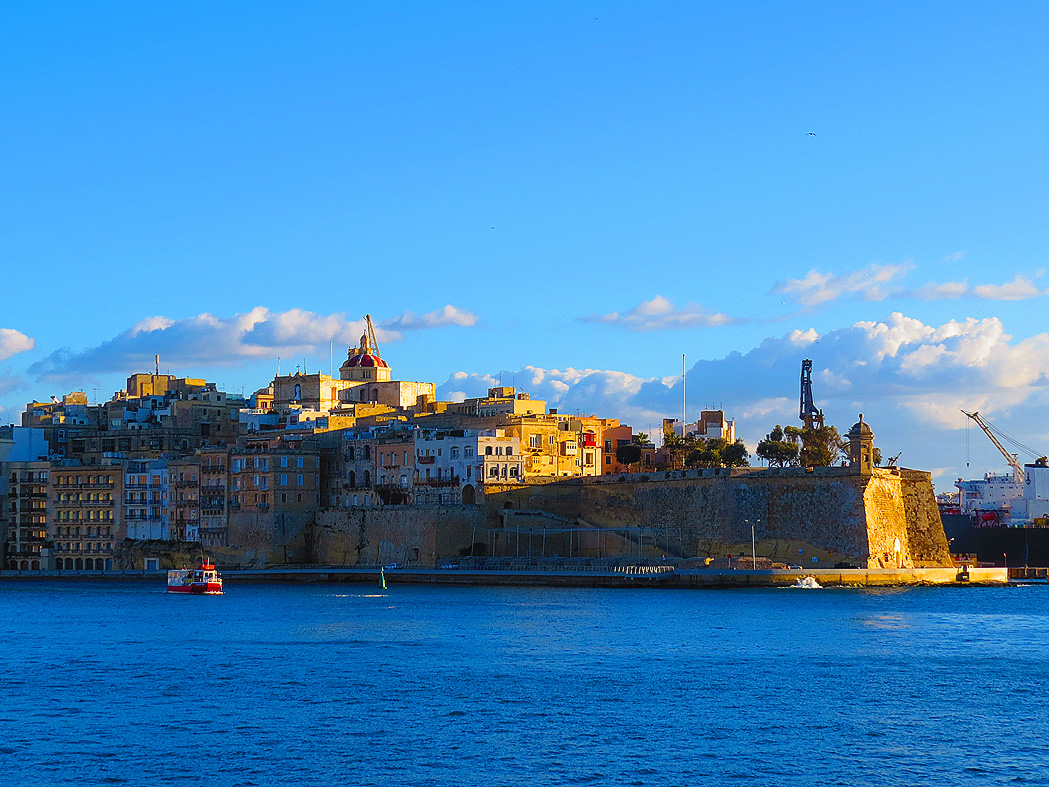 Sunset at Senglea, Malta