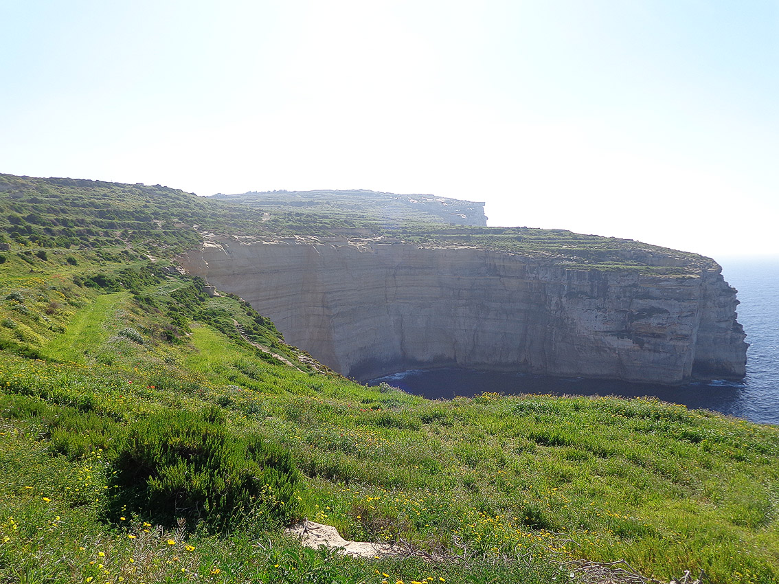 Cliffs near Xlendi, Gozo